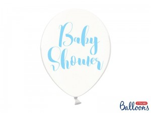 """Balony 30cm, Baby Shower, Crystal Clear (1 op. / 6 szt.)"""
