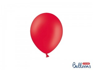 """Balony Strong 12cm, Pastel Poppy Red (1 op. / 100 szt.)"""