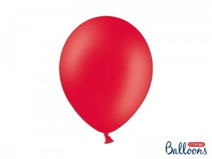 """Balony Strong 30cm, Pastel Poppy Red (1 op. / 10 szt.)"""
