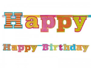 """Baner Happy Birthday, 16 x 166cm (1 karton / 40 szt.)"""