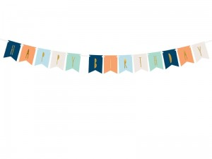 """Baner Happy Birthday, mix, 11,5 x 140 cm (1 karton / 50 op.)"""